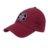 Maroon Twill Unstructured Low Profile Hat-Official Logo