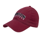 Maroon Twill Unstructured Low Profile Hat-Arched Union College