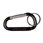 Black Carabiner with Split Ring-Union College Flat Engraved