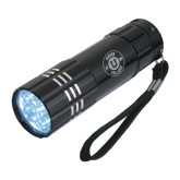 Industrial Triple LED Black Flashlight-Official Logo Engraved