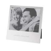 Silver Two Tone 5 x 7 Vertical Photo Frame-Union College Flat Engraved