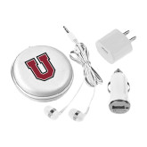 3 in 1 White Audio Travel Kit-U