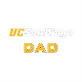 Dad Decal-UC San Diego, 6 inches wide