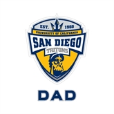Dad Decal-UC San Diego Crest, 6 inches tall