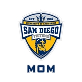 Mom Decal-UC San Diego Crest, 6 inches tall