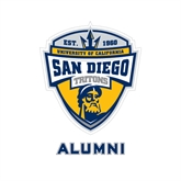 Alumni Decal-UC San Diego Crest, 6 inches tall