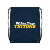 Navy Drawstring Backpack-UC San Diego Tritons Mark