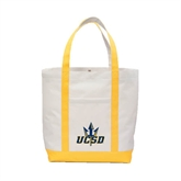 Contender White/Gold Canvas Tote-UCSD w/Trident