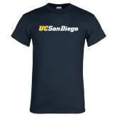 Navy T Shirt-UC San Diego Wordmark