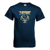 Navy T Shirt-Graphics on Ball