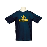 Youth Navy T Shirt-UCSD w/Trident