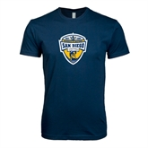 Next Level SoftStyle Navy T Shirt-UC San Diego Crest