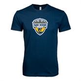 Next Level SoftStyle Navy T Shirt-UC San Diego Crest