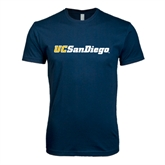 Next Level SoftStyle Navy T Shirt-UC San Diego