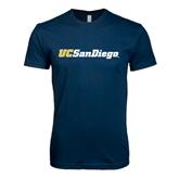 Next Level SoftStyle Navy T Shirt-UC San Diego