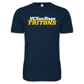 Next Level SoftStyle Navy T Shirt-UC San Diego Tritons Mark