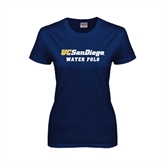 Ladies Navy T Shirt-Water Polo