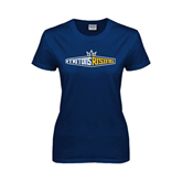 Ladies Navy T Shirt-Tritons Rising