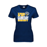 Ladies Navy T Shirt-UC San Diego Game Day