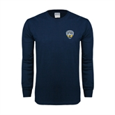 Navy Long Sleeve T Shirt-UC San Diego Crest