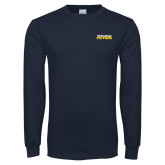 Navy Long Sleeve T Shirt-UC San Diego Tritons Mark