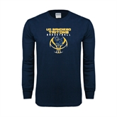 Navy Long Sleeve T Shirt-Graphics on Ball