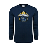 Navy Long Sleeve T Shirt-Graphics in Ball