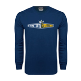 Navy Long Sleeve T Shirt-Tritons Rising