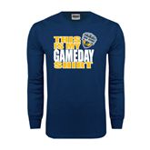 Navy Long Sleeve T Shirt-UC San Diego Game Day