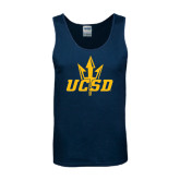 Navy Tank Top-UCSD w/Trident