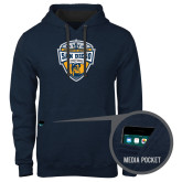 Contemporary Sofspun Navy Heather Hoodie-UC San Diego Crest