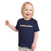 Toddler Navy T Shirt-UC San Diego Primary Mark
