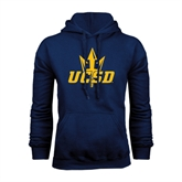 Navy Fleece Hood-UCSD w/Trident