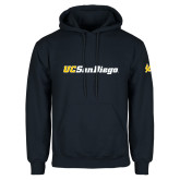 Navy Fleece Hoodie-UC San Diego Wordmark