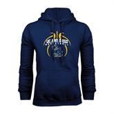 Navy Fleece Hoodie-Graphics in Ball