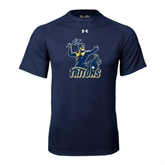 Under Armour Navy Tech Tee-Official Logo