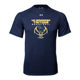 Under Armour Navy Tech Tee-Graphics on Ball