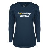 Ladies Syntrel Performance Navy Longsleeve Shirt-Softball