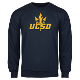 Navy Fleece Crew-UCSD w/Trident