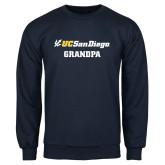 Navy Fleece Crew-Grandpa