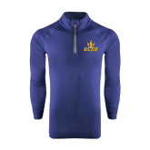 Under Armour Navy Tech 1/4 Zip Performance Shirt-UCSD w/Trident