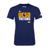 Adidas Navy Logo T Shirt-Adidas UCSD Tritons Logo