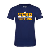 Adidas Navy Logo T Shirt-Adidas UCSD Athletics Logo