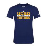 Adidas Navy Logo T Shirt-Adidas UCSD Athletics Logo