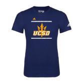 Adidas Navy Logo T Shirt-Adidas UCSD Logo