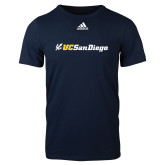 Adidas Navy Logo T Shirt-UC San Diego Primary Mark