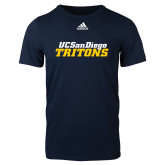 Adidas Navy Logo T Shirt-UC San Diego Tritons Mark