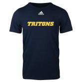 Adidas Navy Logo T Shirt-Tritons Wordmark