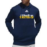Adidas Navy Team Issue Hoodie-UC San Diego Tritons Mark
