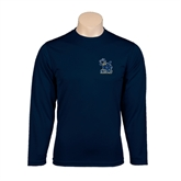 Syntrel Performance Navy Longsleeve Shirt-Official Logo